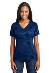 Ladies CamoHex V Neck Tee