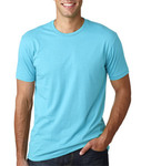 (LWDI) 3600 Lightweight Men's Premium Fitted Short-Sleeve Cotton Crew