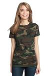 (LWDI) DM104CL Ladies Perfect Weight Camo Crew Tee