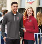 NEW Sport-Tek® Men's Sport-Wick® Textured 1/4-Zip Pullover