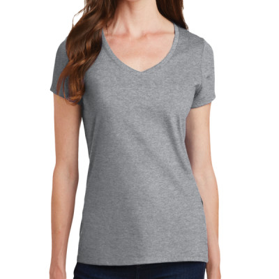 Port & Company® Ladies Fan Favorite V-Neck LIGHT Tee