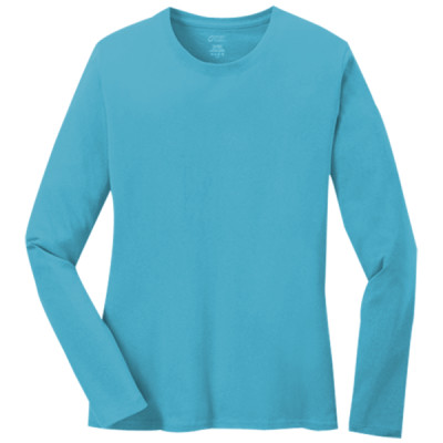 Ladies Long Sleeve 5.4 oz 100% Cotton T Shirt