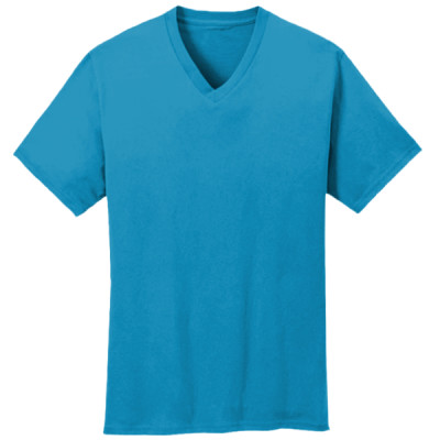 5.4 oz 100% Cotton V Neck T Shirt