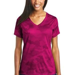 Ladies CamoHex V Neck Tee Thumbnail