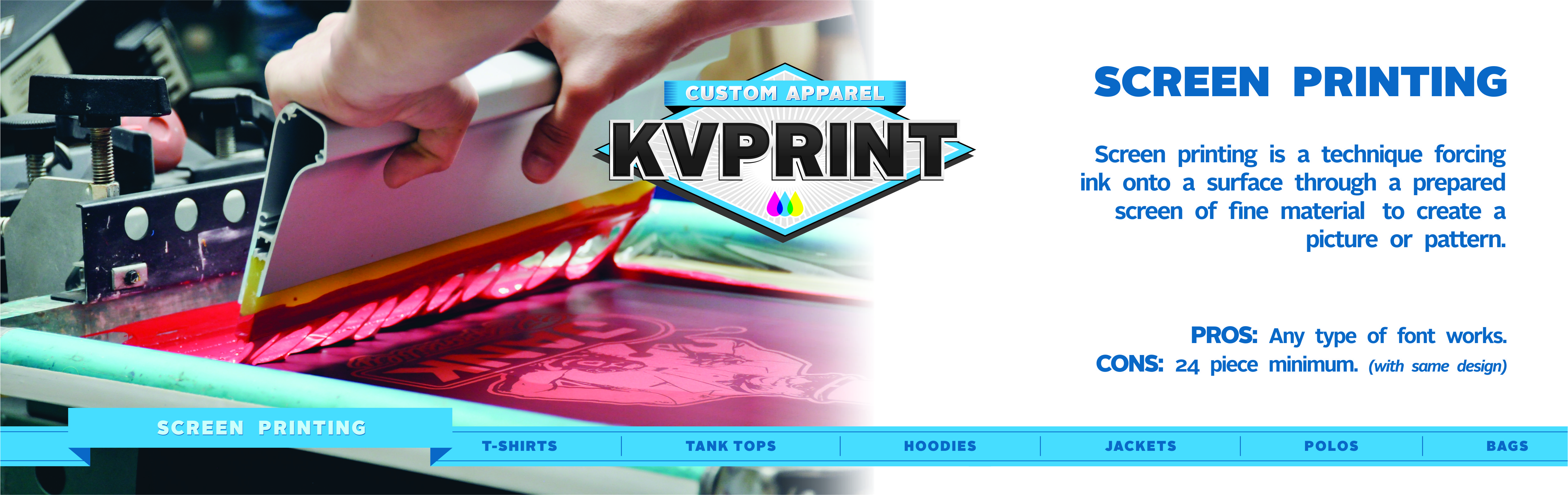 Custom apparel design and printing bakersfield ca kvprint bakersfield california screen printing reheart Image collections