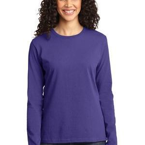 Ladies Long Sleeve 5.4 oz 100% Cotton T Shirt Thumbnail
