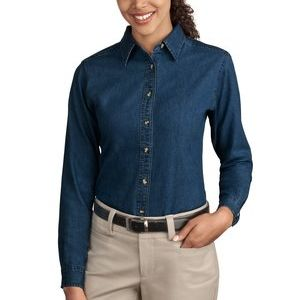 Ladies Long Sleeve Value Denim Shirt Thumbnail