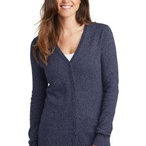 Ladies Marled Cardigan Sweater Thumbnail