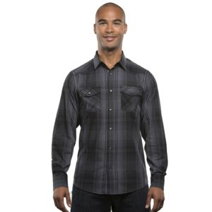 Burnside Men's Long-Sleeve Western Plaid Shirt Thumbnail