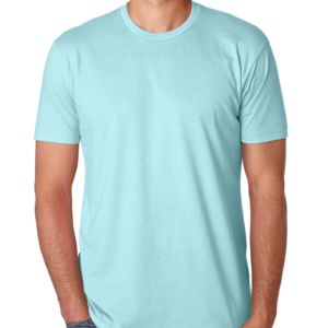 LIGHT Men's Premium Fitted CVC Crew Tee Thumbnail
